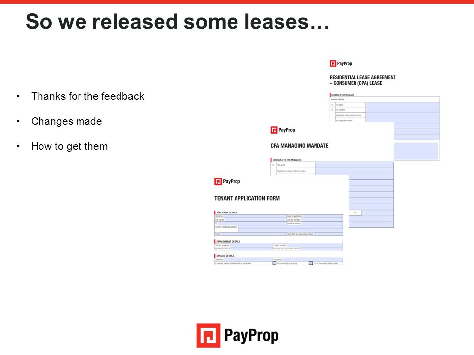 So we released some leases…