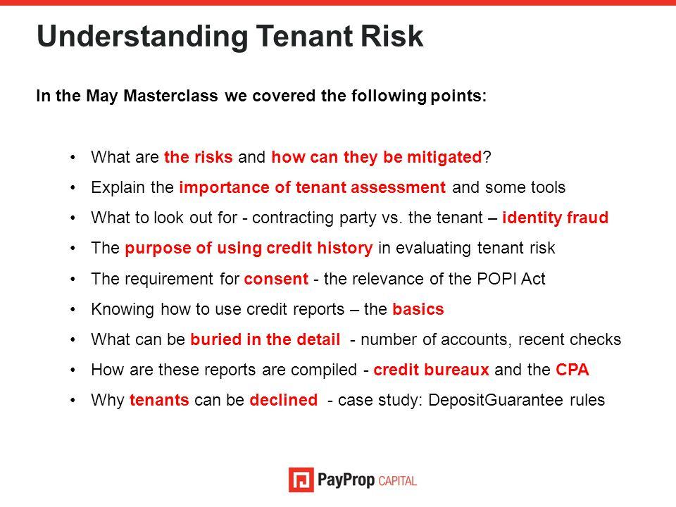 Understanding Tenant Risk