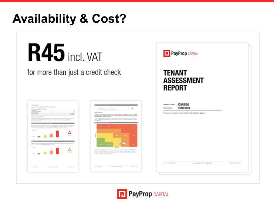 Availability & Cost