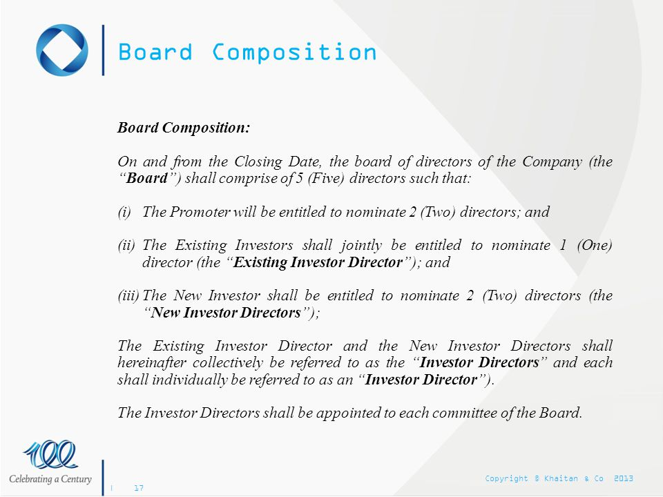 Board Composition Board Composition: