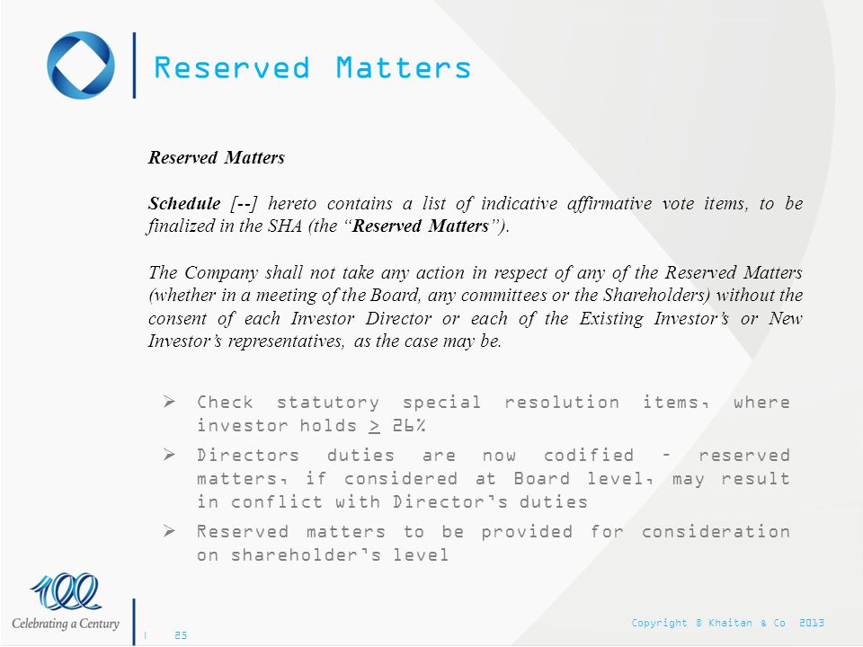 Reserved Matters Reserved Matters