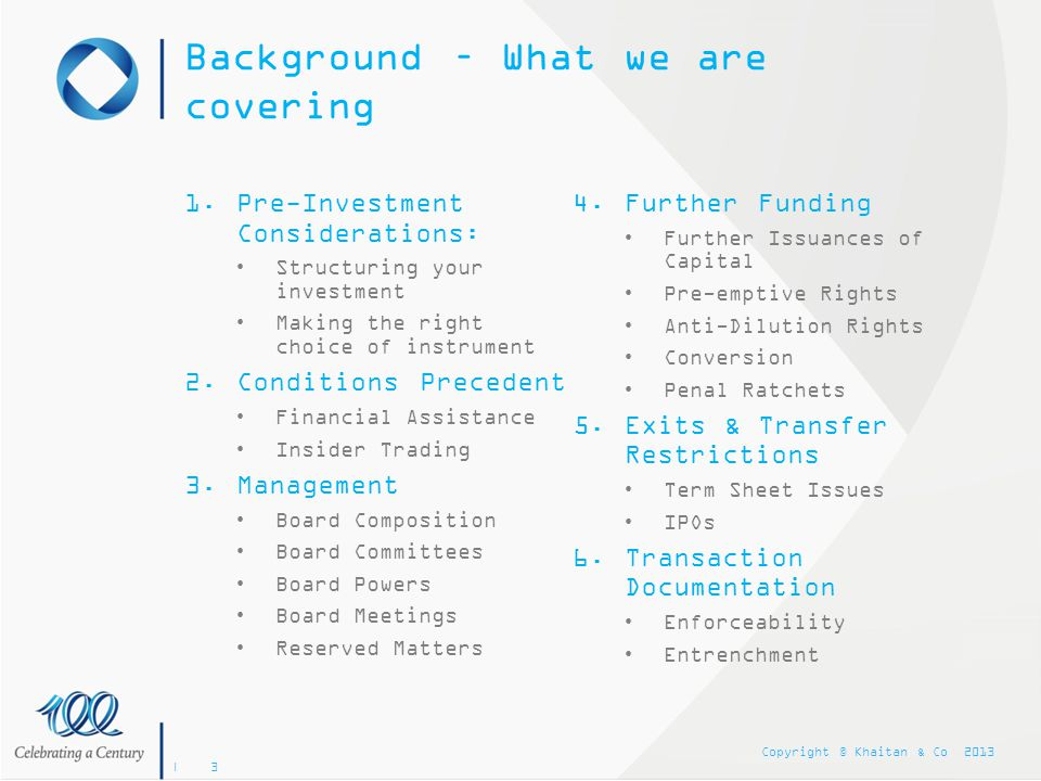 Background – What we are covering