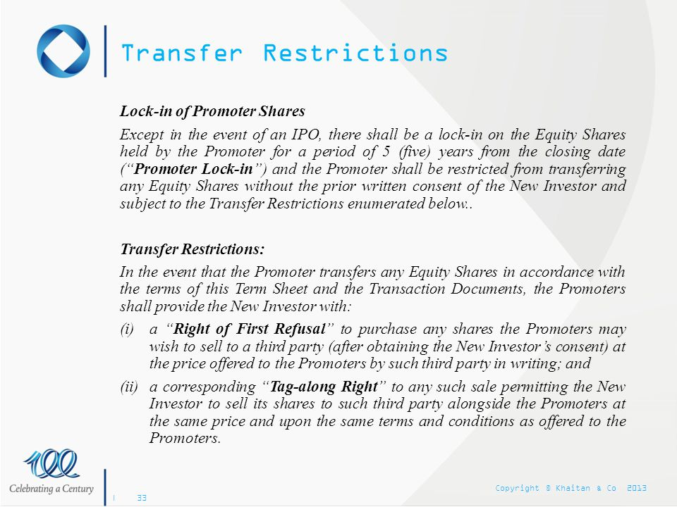 Transfer Restrictions