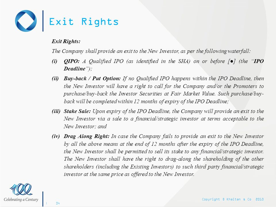 Exit Rights Exit Rights: