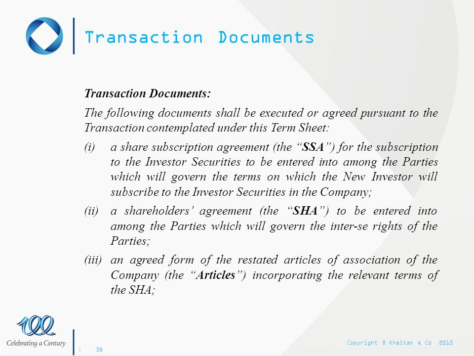 Transaction Documents