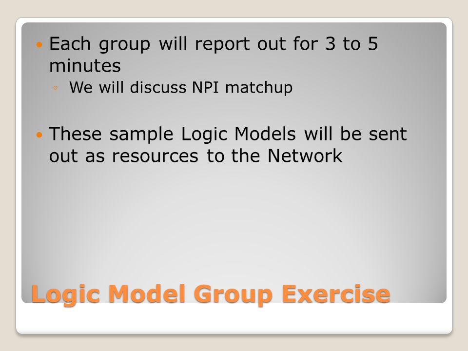 Logic Model Group Exercise