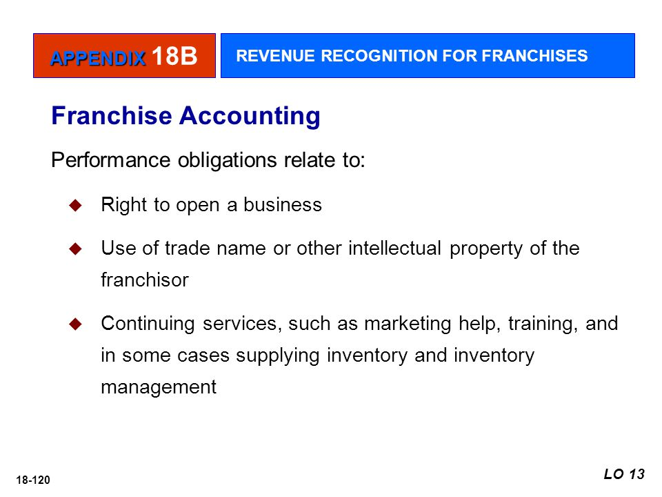Franchise Accounting Performance obligations relate to: