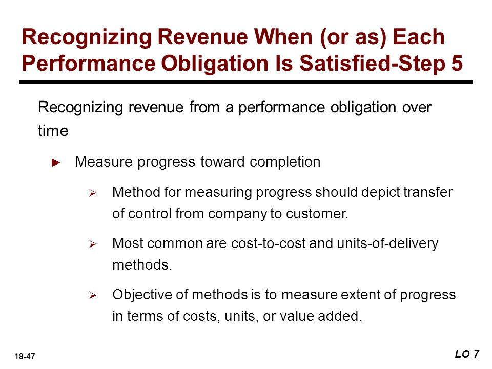 Recognizing Revenue When (or as) Each