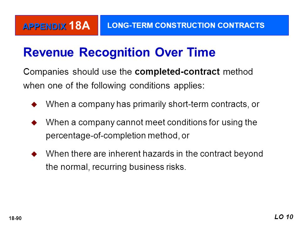 Revenue Recognition Over Time
