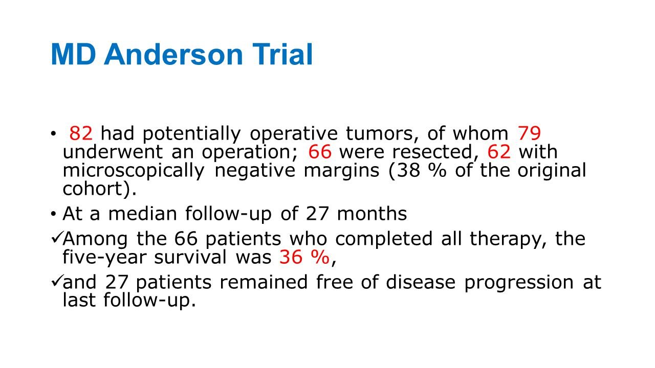 MD Anderson Trial
