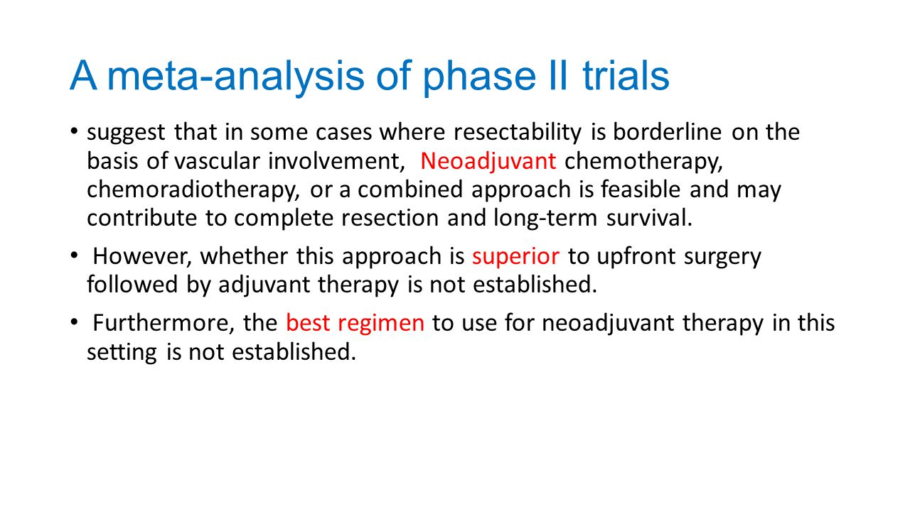 A meta-analysis of phase II trials