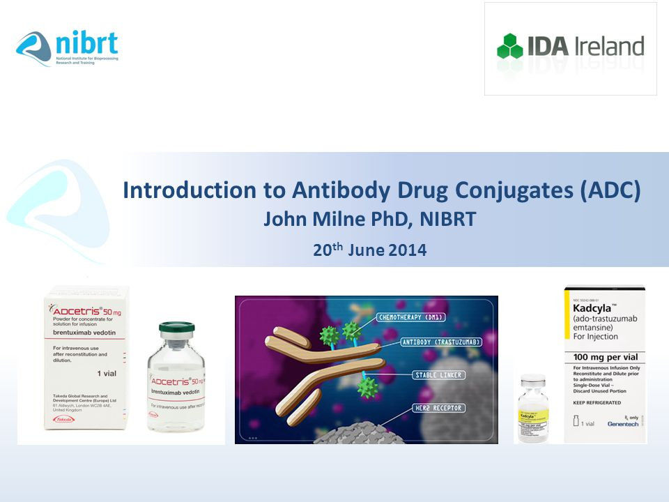 Introduction to Antibody Drug Conjugates (ADC) John Milne PhD, NIBRT 20th June 2014