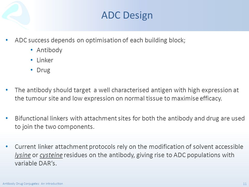 ADC Design ADC success depends on optimisation of each building block;