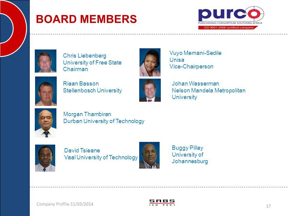 BOARD MEMBERS Vuyo Memani-Sedile Unisa Vice-Chairperson