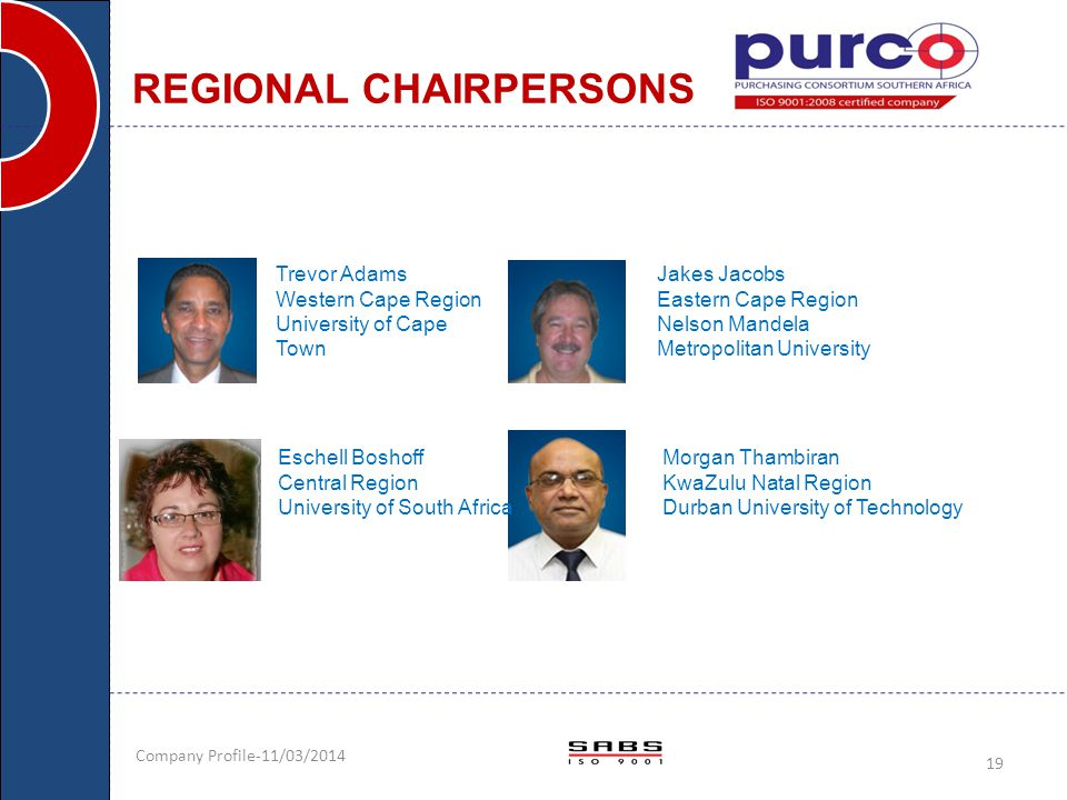 REGIONAL CHAIRPERSONS