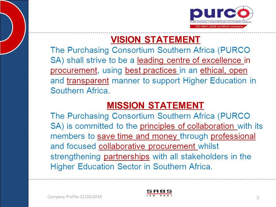 VISION STATEMENT MISSION STATEMENT