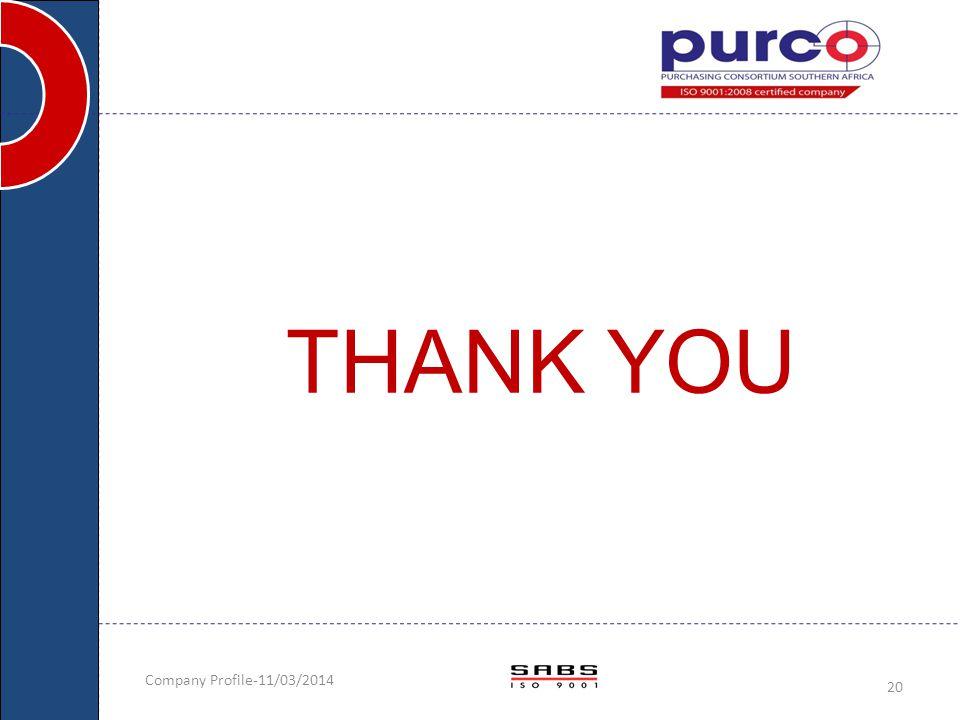 THANK YOU Company Profile-11/03/2014