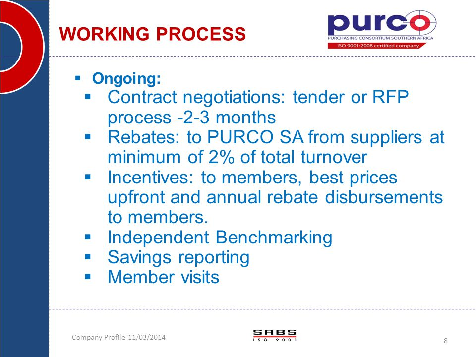 Contract negotiations: tender or RFP process -2-3 months