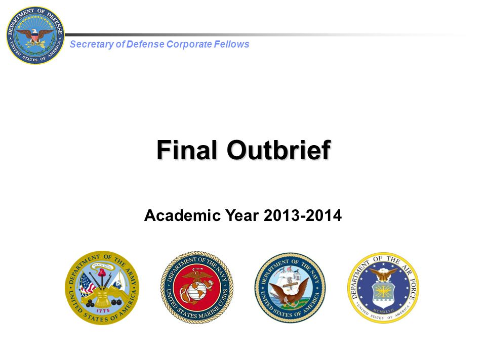 Final Outbrief Academic Year 2013-2014