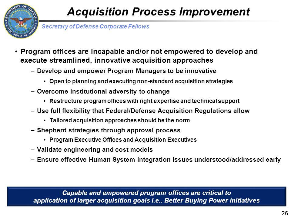 Acquisition Process Improvement