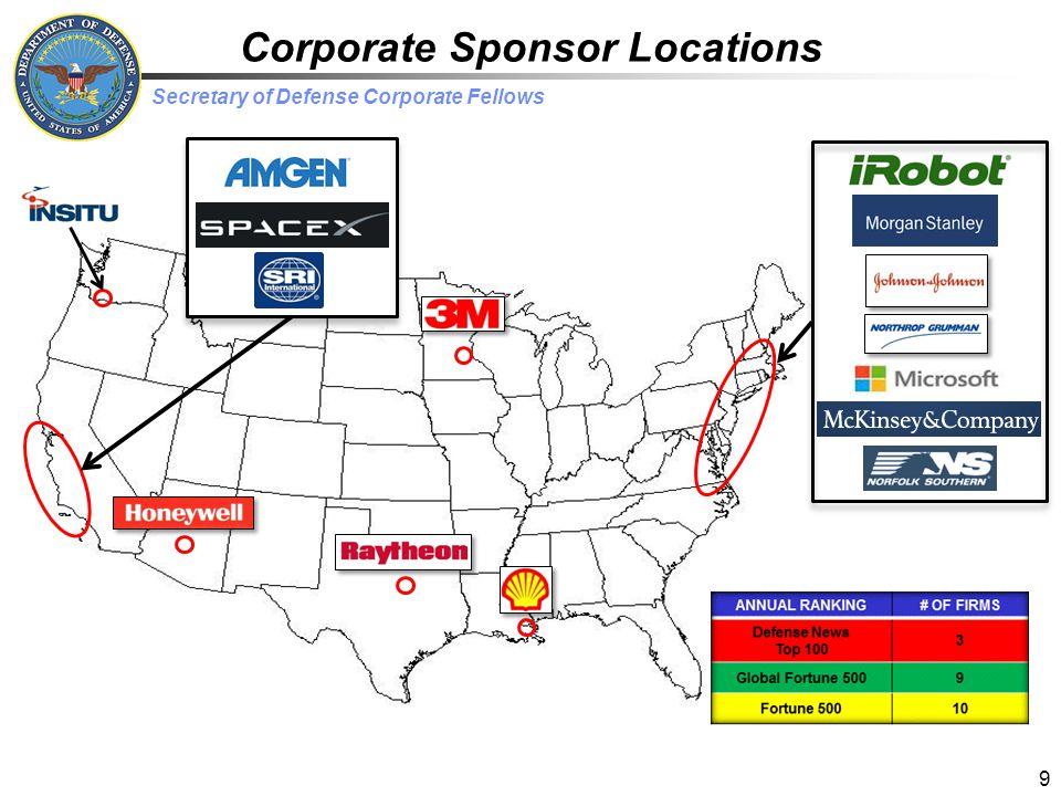 Corporate Sponsor Locations
