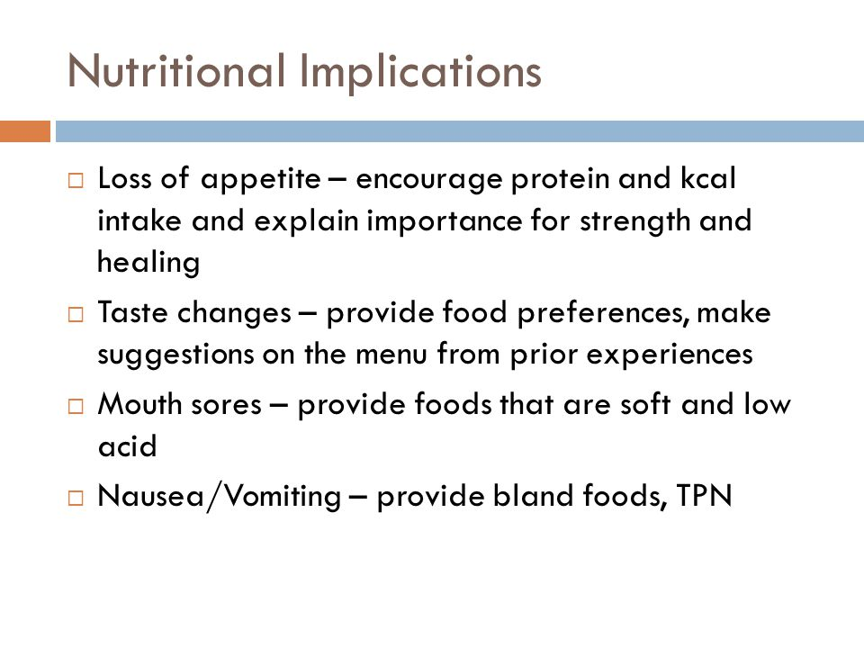 Nutritional Implications