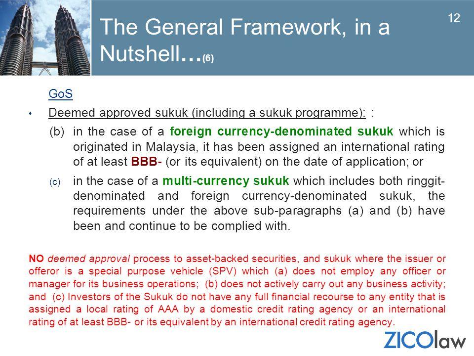 The General Framework, in a Nutshell…(6)