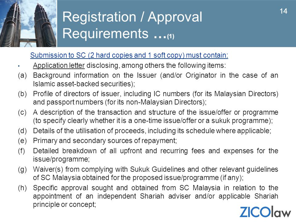 Registration / Approval Requirements …(1)