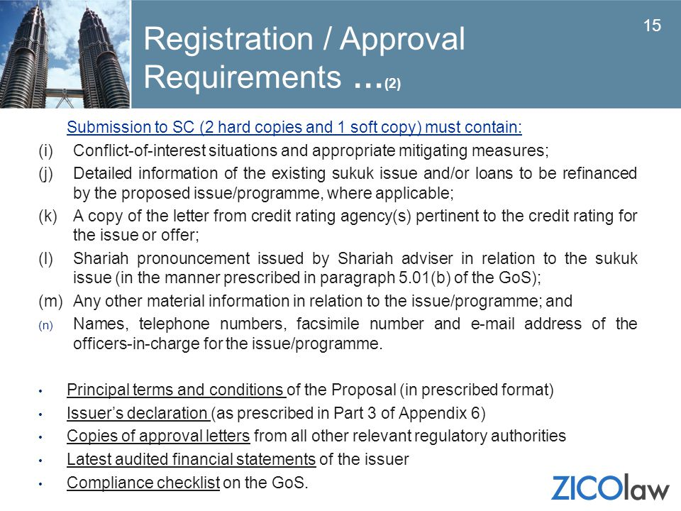 Registration / Approval Requirements …(2)