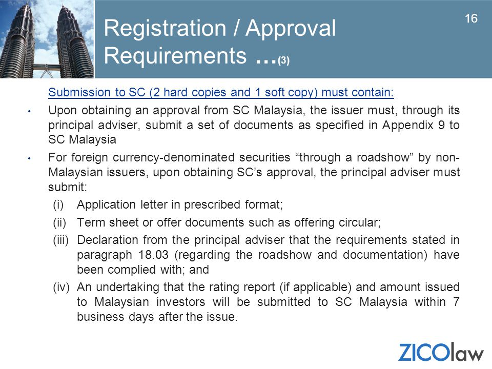 Registration / Approval Requirements …(3)