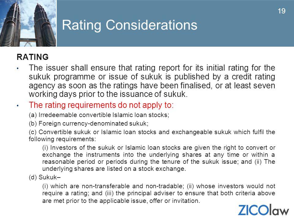 Rating Considerations