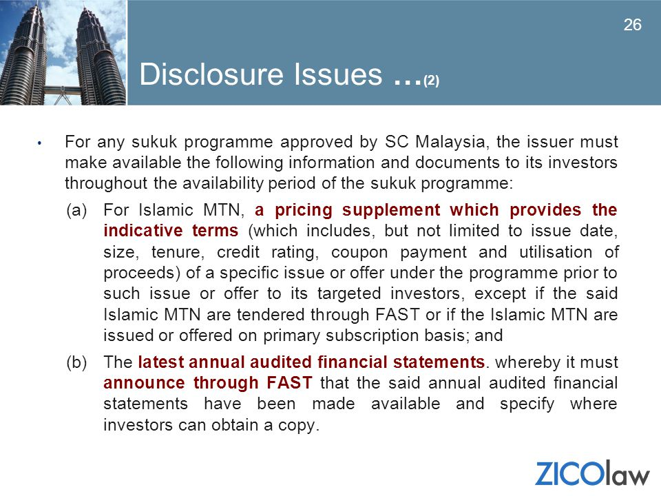Disclosure Issues …(2)