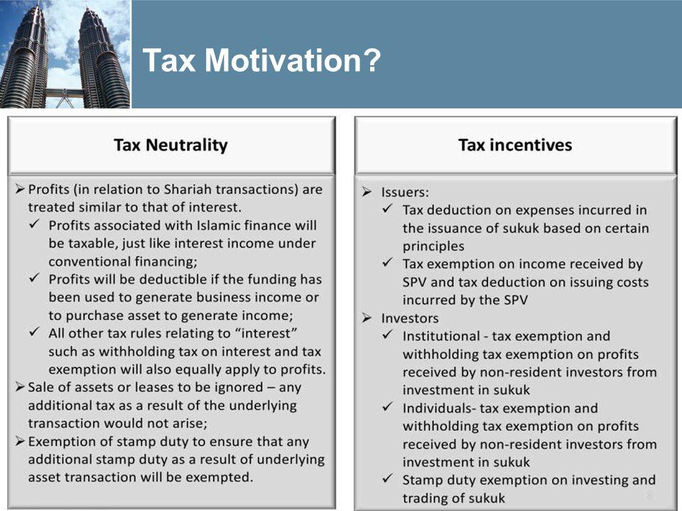 Tax Motivation