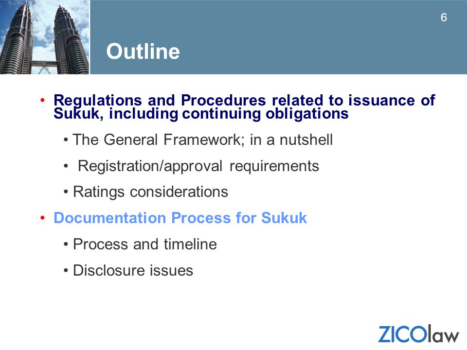 Outline Regulations and Procedures related to issuance of Sukuk, including continuing obligations.