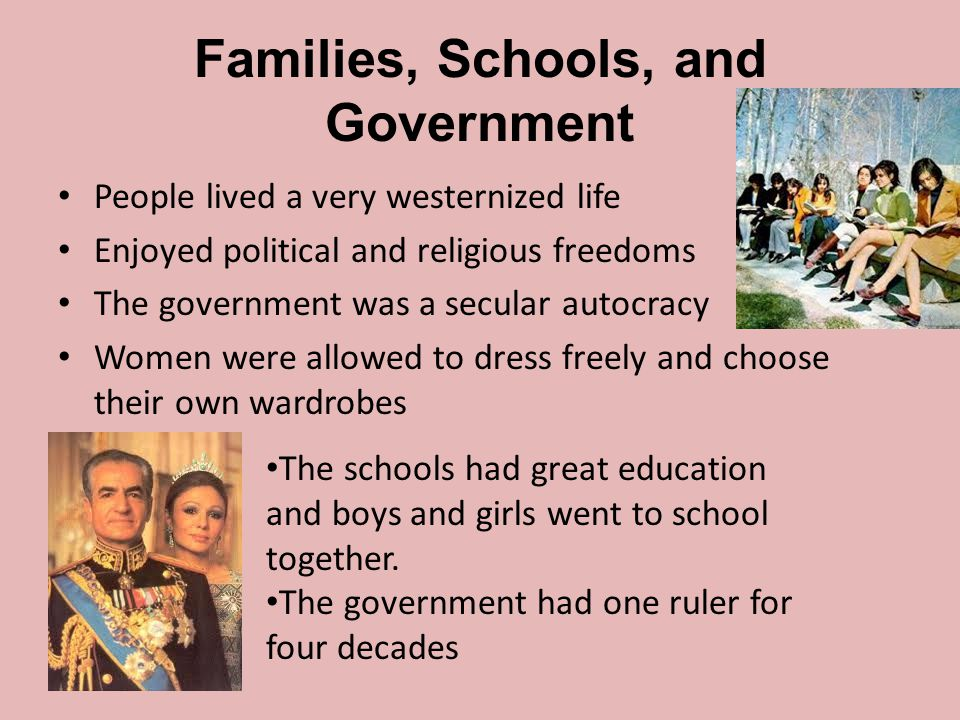 Families, Schools, and Government