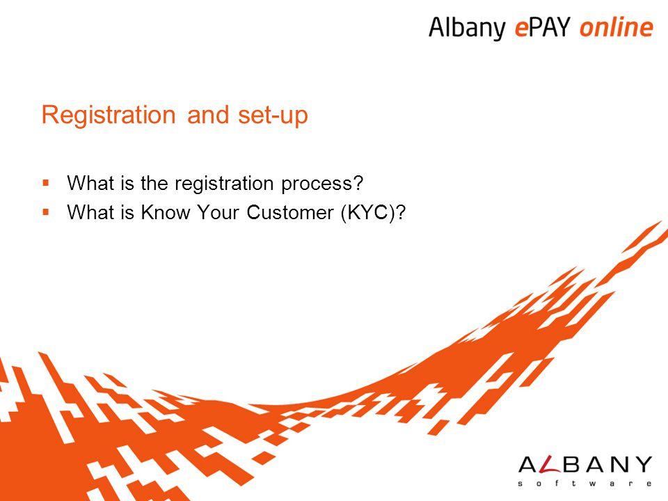 Registration and set-up