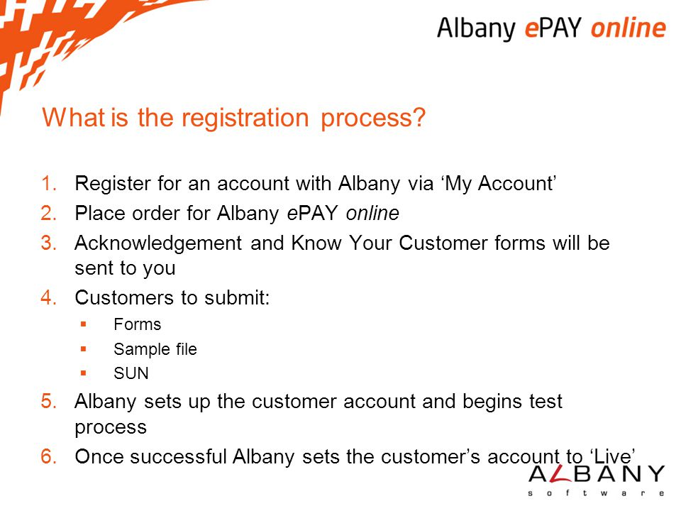 What is the registration process