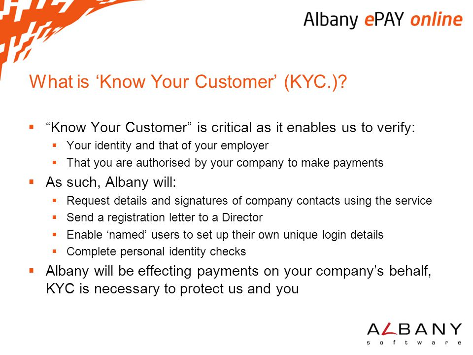 What is 'Know Your Customer' (KYC.)
