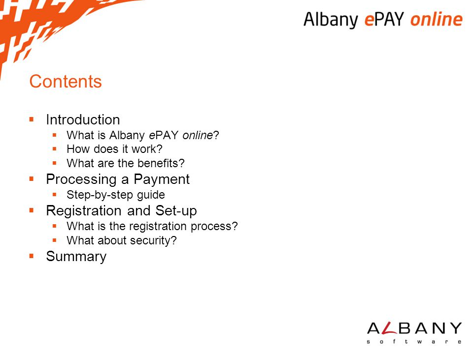 Contents Introduction Processing a Payment Registration and Set-up