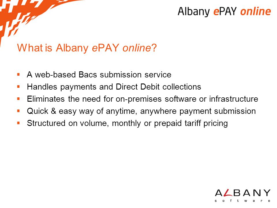 What is Albany ePAY online