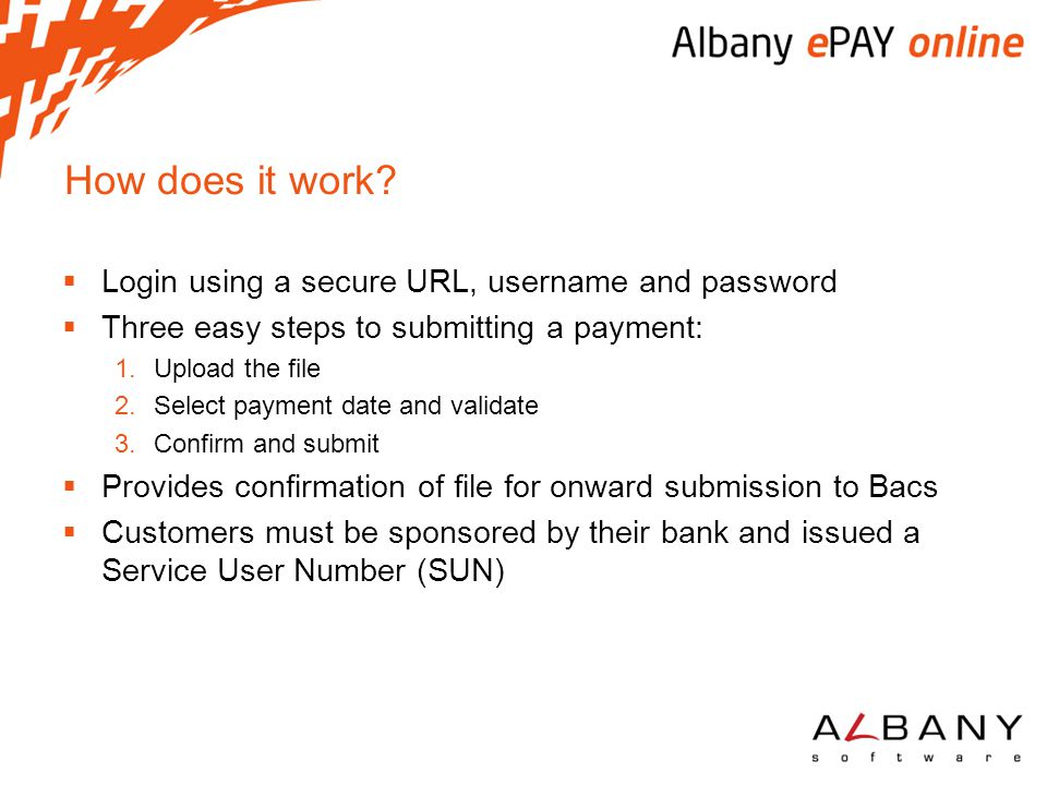 How does it work Login using a secure URL, username and password