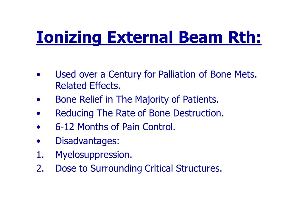 Ionizing External Beam Rth: