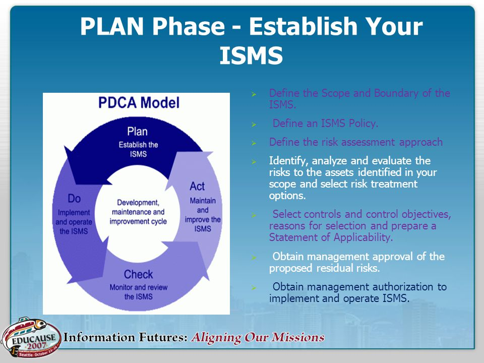 PLAN Phase - Establish Your ISMS