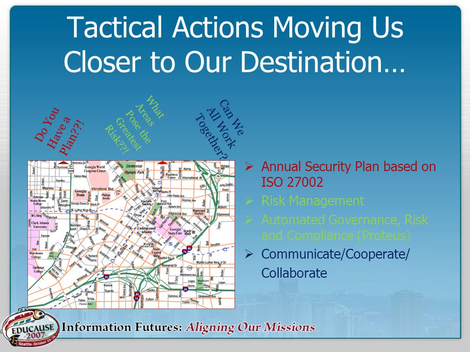 Tactical Actions Moving Us Closer to Our Destination…
