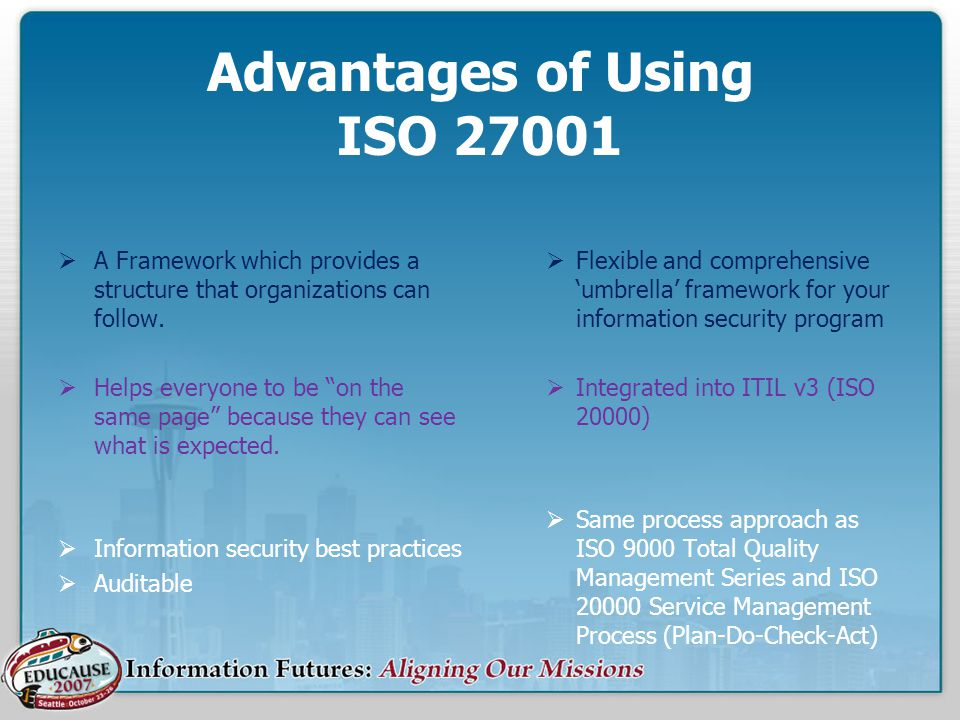 Advantages of Using ISO 27001