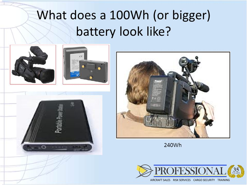 What does a 100Wh (or bigger) battery look like