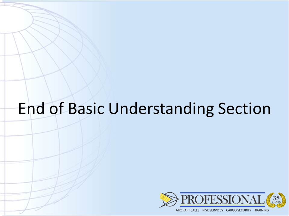 End of Basic Understanding Section