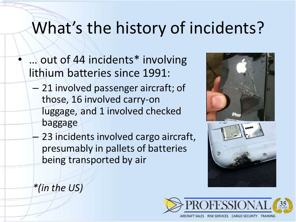 What's the history of incidents
