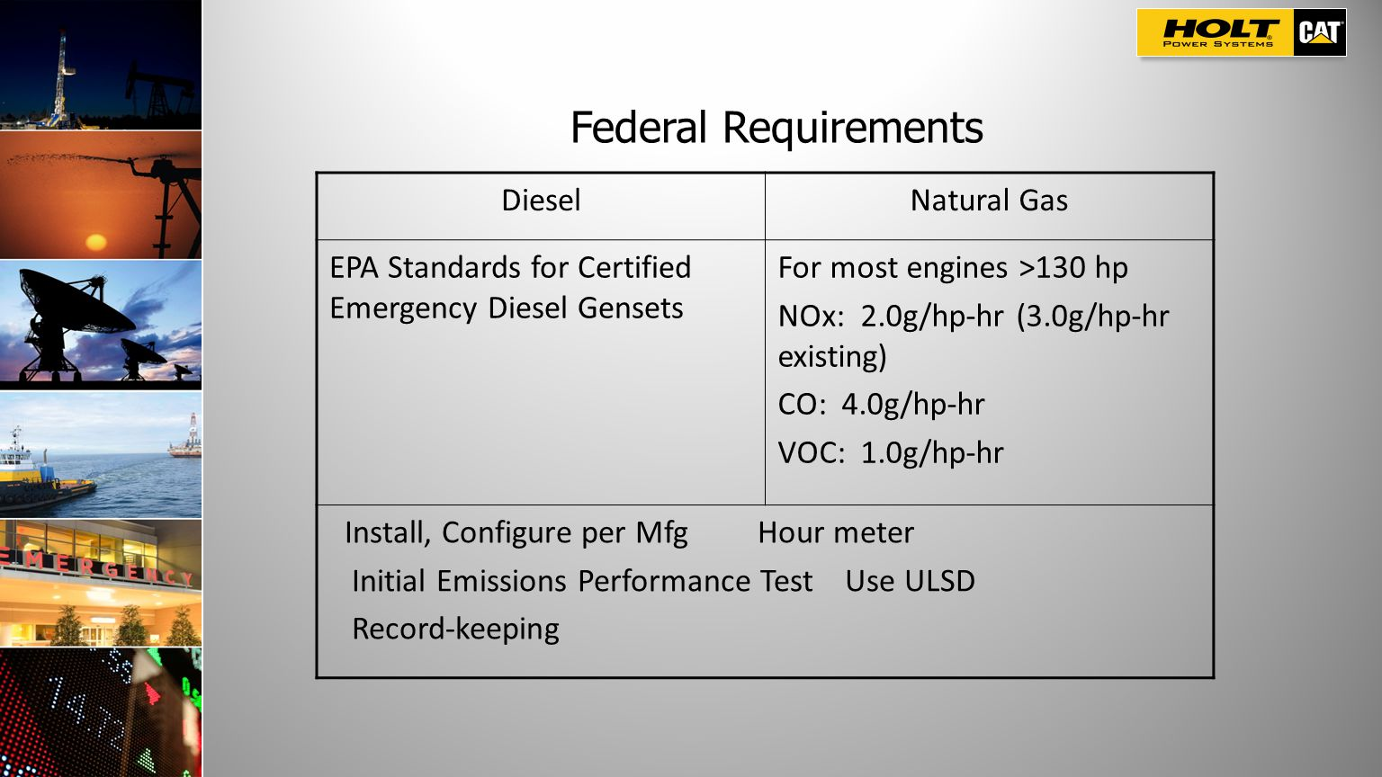 Federal Requirements Diesel Natural Gas