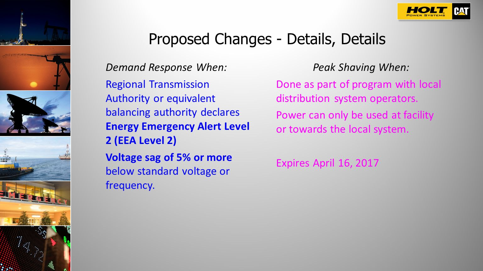 Proposed Changes - Details, Details